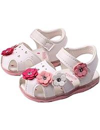 6d4081a99cb4 BURFLY Toddler Girls Sunflower Sandals Light Princess Shoes