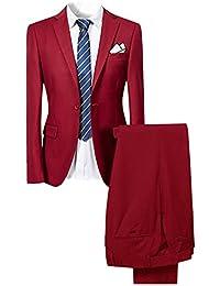 Cloudstyle Traje suit hombre 2 piezas chaqueta chaleco pantalón traje al  estilo occidental ca1da3818cc3
