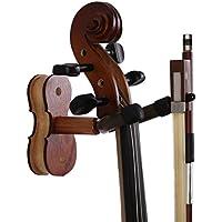 colgador de violín gancho de madera respetuoso del medio ambiente gancho de pared para hogar y estudio desmontable accesorios para violín (púrpura)