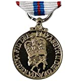 Queens Silver Jubilee Medal - Miniature Size Made in Britain by Epic