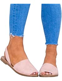 b08f76fe Paris Hill Mujer Avarca Menorquínas Sandalias Varias Coloeres Abarca Sandalias  Zapatos con Plano