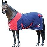 Masta Windsor Suede Show - Manta / Sábana para caballo, color azul, talla 6 Ft