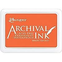 Ranger Sienna Russet Archival - Almohadilla de Tinta, Color Naranja, Bright Tangelo, 6.9 x 9.8 x 1.8 cm