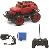 The Flyer's Bay Big And Mean Rock Crawling 1:20 Scale Modified Hummer RC Car/Monster Truck (Red & Black)