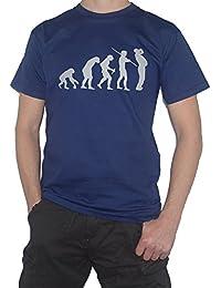 Beer Drinker T-Shirt Evolution of Man Lager Ale Pub Drinking