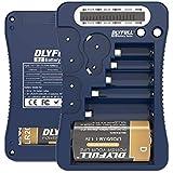 DLYFULL Testeur de Batterie Universel LCD pour Piles AA, AAA, C, D, 9 V pour Piles Bouton CR123A, CR2, CRV3, 2CR5, CRP2 1,5 V et 3 V Bleu
