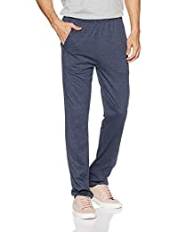 Hanes Men's Cotton Track Pants (8907378022141_MPP92-063-PL_Medium_Blue Melange)