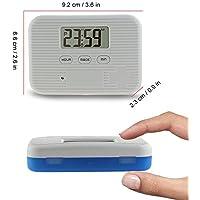 Preisvergleich für Alwayswe Pillendose mit 6 Fächern für Medikamente, Spender, elektronischer Zeitschaltuhr, staubdicht, mit Alarm