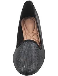 Moda Brasil Sparkling Veneer Black Fashion Sandals For Women