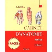 Carnet d'anatomie : Tome 1, Membres