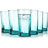 Pasabahce Porto Vasos de Agua - 305 ML - Conjunto de 6 - Gafas de Alta Calidad - Lavavajillas- Vasos de Cristal - en Turquesa