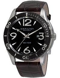 Hamilton H37715535 - Reloj analógico de caballero automático con correa de piel marrón - sumergible a 50 metros