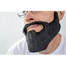 Barba poblada postiza adhesiva de disfraz
