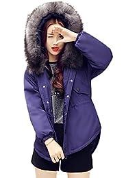K-youth® Mujer Chaqueta De Plumas Con Capucha Abrigo Parka Espesar con Capucha Pelaje Collar de Invierno Cortospara Mujer