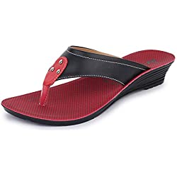 Trase Step Red Heels / Wedges for Women-7 IND/UK
