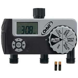 Orbit 94000 Buddy III Eco-Series 3 Port Digital Tap Timer