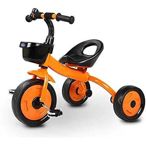 KA-ALTHEA- Triciclo de bicicletas cochecito de bebé Niños 2-5 Años de Edad de la bici Scooter niño monopatín bicicleta triciclo Walker ( Color : Naranja , Tamaño : Mountain Wheels