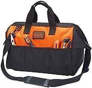Black+Decker 16 Inch Tool Bag with 3 Outside Pockets and Shoulder Strap , Orange/Black - BDST73821-8, 2 Years