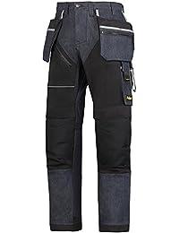 Snickers workwear 6204 - Pantalones de trabajo de mezclilla ruffwork más con hp, 6504056