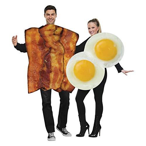 Speck Kleid Erwachsene Kostüm - Unbekannt Lustiges Bacon und Ei Paarkostüm