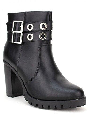 Cendriyon, Bottine noire ZAKANA Mode Chaussures Femme Noir