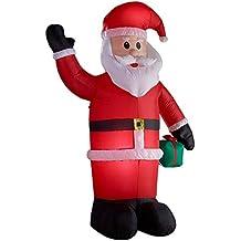 Gartenpirat Papa Noel 240 cm hinchable illuminado Decoracíon Navidad inflable