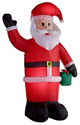 Gartenpirat Weihnachtsmann figur aufblasbar beleuchtet 240 cm groß für innen außen
