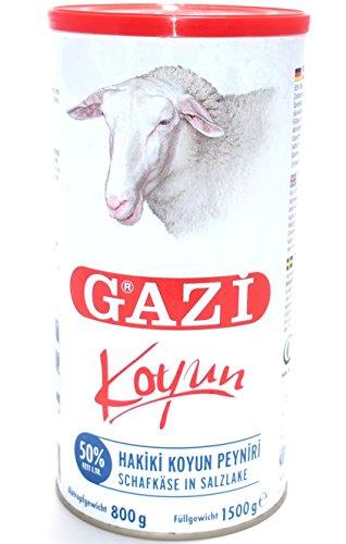 Gazi – Schafskäse in Salzlake 50% Fett i.Tr. – Koyun peyniri (800g Abtropfgewicht)