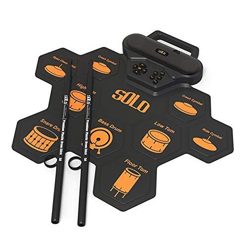 haodene Batteria Elettronica Tamburo Elettronico con Percussioni Pad con Pedali E Bacchette Midi Rollup da Tavolo Portatile per Batteria Elettronica per I Principianti dei Bambini