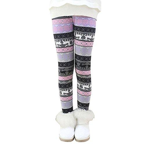 Hankyky Baby Kinder Fleece Hosen Mädchen Leggings Strumpfhosen Girls Trainingshose Herbst Winter Warm Pants(95-150cm/2-12 Jahre) (Grüne Adult Strumpfhosen)