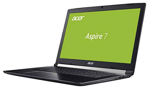 Acer Aspire 7 A717 71G 70Z6 439 cm 173 Zoll 100 % HD IPS matt Gaming Notebook Intel foundation i7 7700HQ 16GB RAM 256GB SSD 1000GB HDD GeForce GTX 1060 6GB GDDR5 VRAM Win 10 schwarz Notebooks