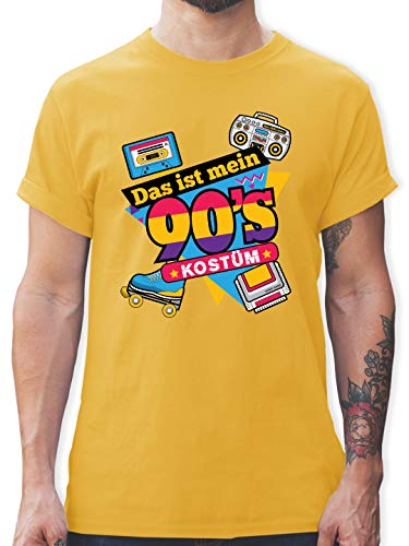 Karneval & Fasching - Das ist Mein 90er Jahre Kostüm - L - Gelb - L190 - Herren T-Shirt und Männer Tshirt (Lustige Gruppe Kostüm Ideen Für Männer)
