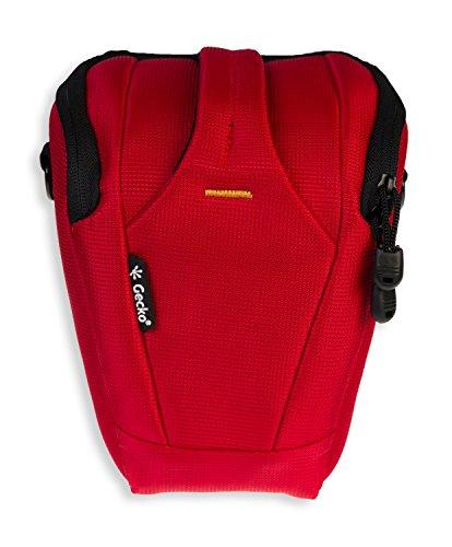 GeckoCovers SLR Kameratasche/Colttasche in der Farbe rot und Größe large für z.B. Panasonic Lumix DMC GH2 GH3 G6 G3 G2 - Canon 1200D 1100D 1000D - Nikon D600 D610 D5100