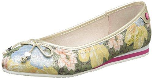 Tom Tailor  9672005,  Mädchen Slingback Ballerinas , Mehrfarbig - Mehrfarbig - Multicolore (Rose) - Größe: 36