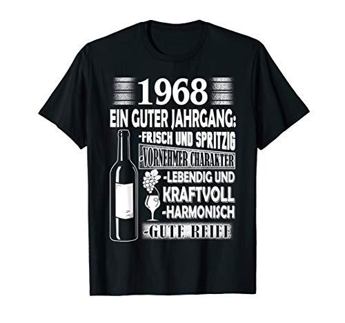 Jahrgang 1968 Geschenk für Mann zum Geburtstag Wein Witz T-Shirt