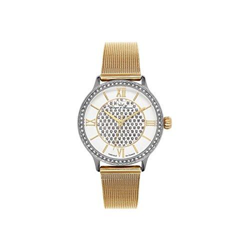 Orologio donna Yonger & Bresson bianca e dorata–DCC 096s-1fm
