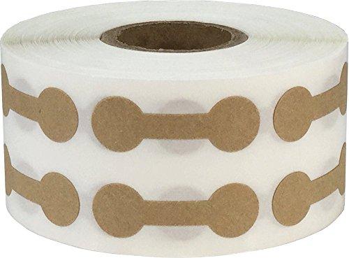 Marrón Kraft Mercancías Barra con Pesas Joyería Pegatinas, 11 x 33 mm 7/16 x 1 5/16 Pulgadas Ancho, 1000 Etiquetas en un Rollo