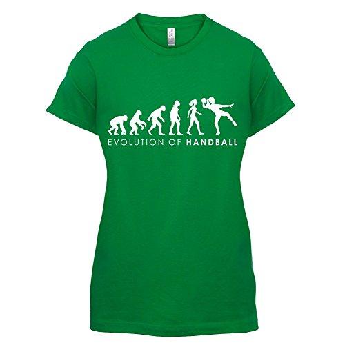 Evolution of Woman - Handball - Damen T-Shirt - 14 Farben Grün