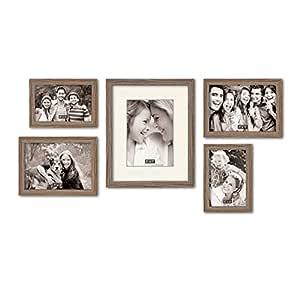 @Home MDF Photo Frame (23.3 cm x 28.4 cm x 1.3 cm, Oak, Set of 5)