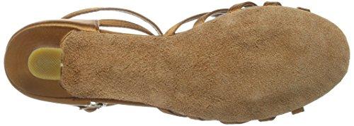 Amurleopard Damen Latein Schuhe 5cm Absatz Dunkelbraun 39(Herstellergröße:40) -
