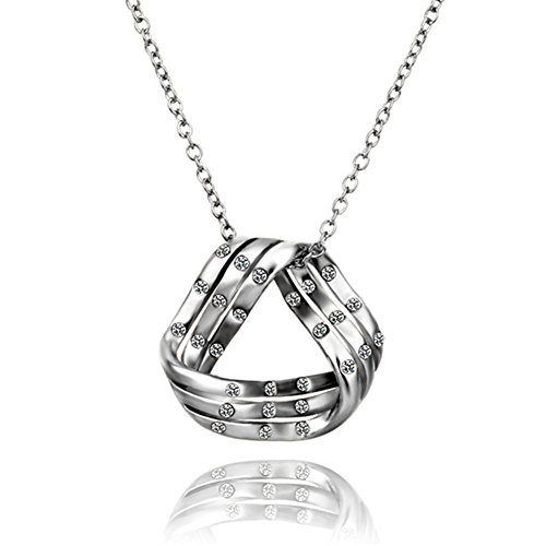 yeahjoy Charm Damen platiniert trizyklisches Form Anhänger Halsketten Männer 14k White Gold Halskette