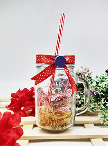 Satyam Kraft message in a bottle mason Jar for Gift -1 one pcs