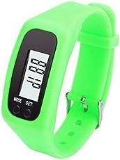 DANMEI digitale LCD contapassi, passo Esegui Walking distanza calorie Counter, 12/24ore tempo di visualizzazione orologio sportivo braccialetto