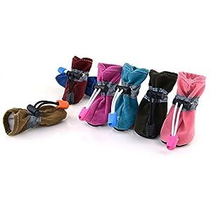 Sweetds Chien Chaussures Sans Glissement Garder au Chaud Bottes