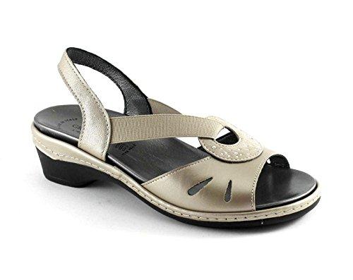 GRUNLAND DORA SE0164 platino sandali donna plantare estraibile Oro