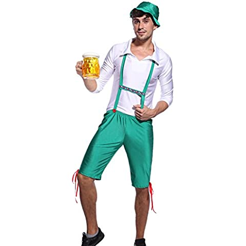 Anladia - Disfraz de Oktoberfest para adulto hombre Cosplay Dress Fiesta Carnaval Halloween Talla M-L (40-42)