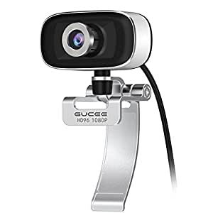 Webcam Full HD 1080P, GUCEE HD96 Caméra Skype à Haut Résolution, USB Caméra avec Microphone Intégré pour Skype, MSN, Facebook, Twitter, Hangout, PC Web Camera Compatible avec Windows 7, Windows 8
