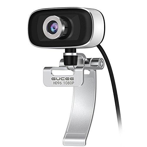 Webcam 1080P 30fps GUCEE HD96 Full HD Web Kamera mit Mikrofon für Skype FaceTime Youtube iMessenger, Weitwinkel USB Web Cam für Mac iMac PC Computer Laptop Notebook Kompatibel Windows 10 / 8 / XP