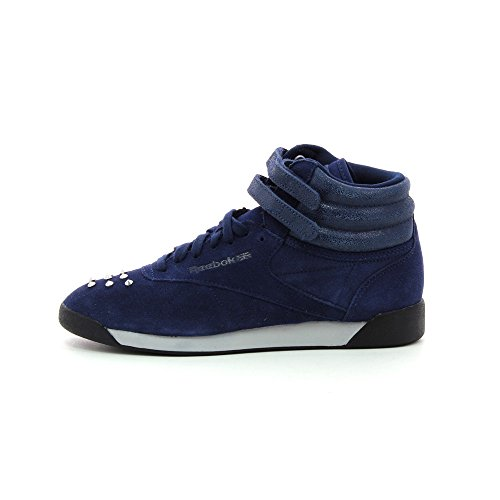 Reebok Freestyle Hi Suede II Navy/Black/Steel/Silver