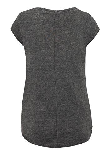 Sublevel Vintage Damen T-Shirt   Elegantes Shirt mit Used Washed Effekt Dark-Grey